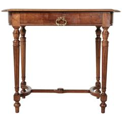 19th Century, French Solid Walnut Louis XVI Style Desk Side Table or Console