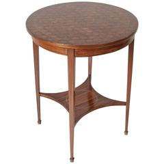 French Art Deco Period Louis XVI Style Rosewood Marquetry Gueridon Side Table