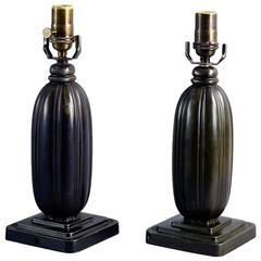 Pair of Art Deco Lamps by Just Andersen, Denmark, 1930s