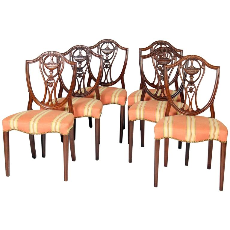 Set of Six George III Style Dining Room Chairs at 1stdibs