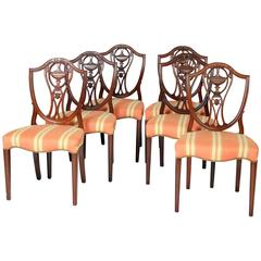 Set of Six George III Style Dining Room Chairs
