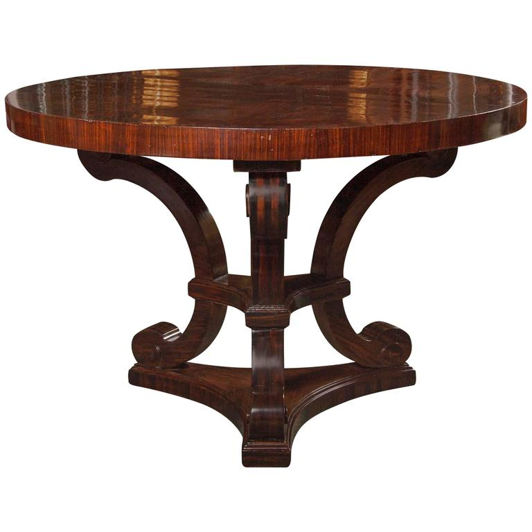 Art Deco Foyer Furniture : Macassar ebony art deco center table at stdibs