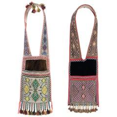 Pair of Beaded Bandolier Bags, Winnebago/Chippewa 'Ojibwa', 19th Century