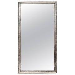 Rectangular Silver Gilt Mirror