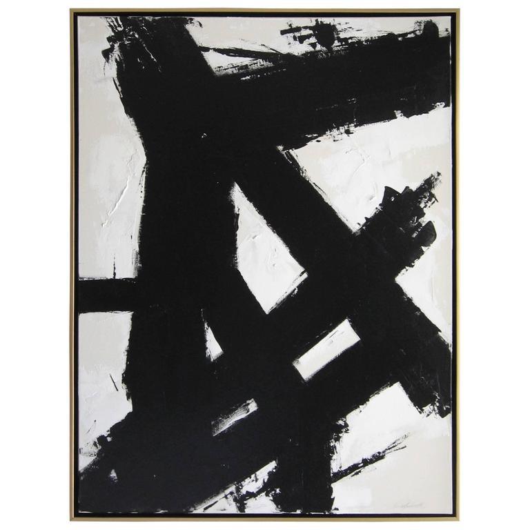 Original Black and White Painting by Argentine Artist Karina Gentinetta 1