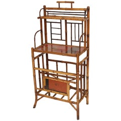 Bamboo Etagere with Lacquered Panels