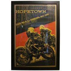 Earl Newman Vintage Hopetown Grand-Prix Moto Cross Motorcycle Poster