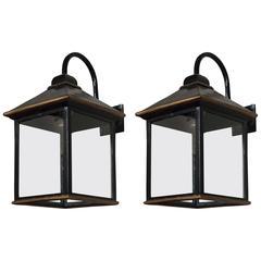 Pair of Large Tole Lanterns