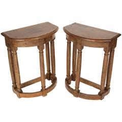 Pair of English Oak End Tables