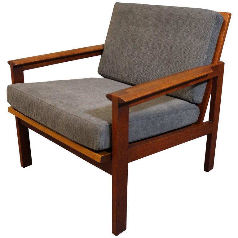 Illum Wikkelsø Teak Lounge Chair for Niels Eilersen at 1stdibs