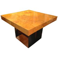 Sleek Milo Baughman Burl Table