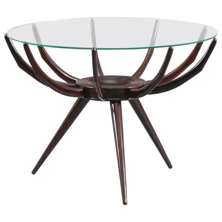 Charming Coffee Table Attributed to Carlo de Carli, Italy, circa 1952 For Sale