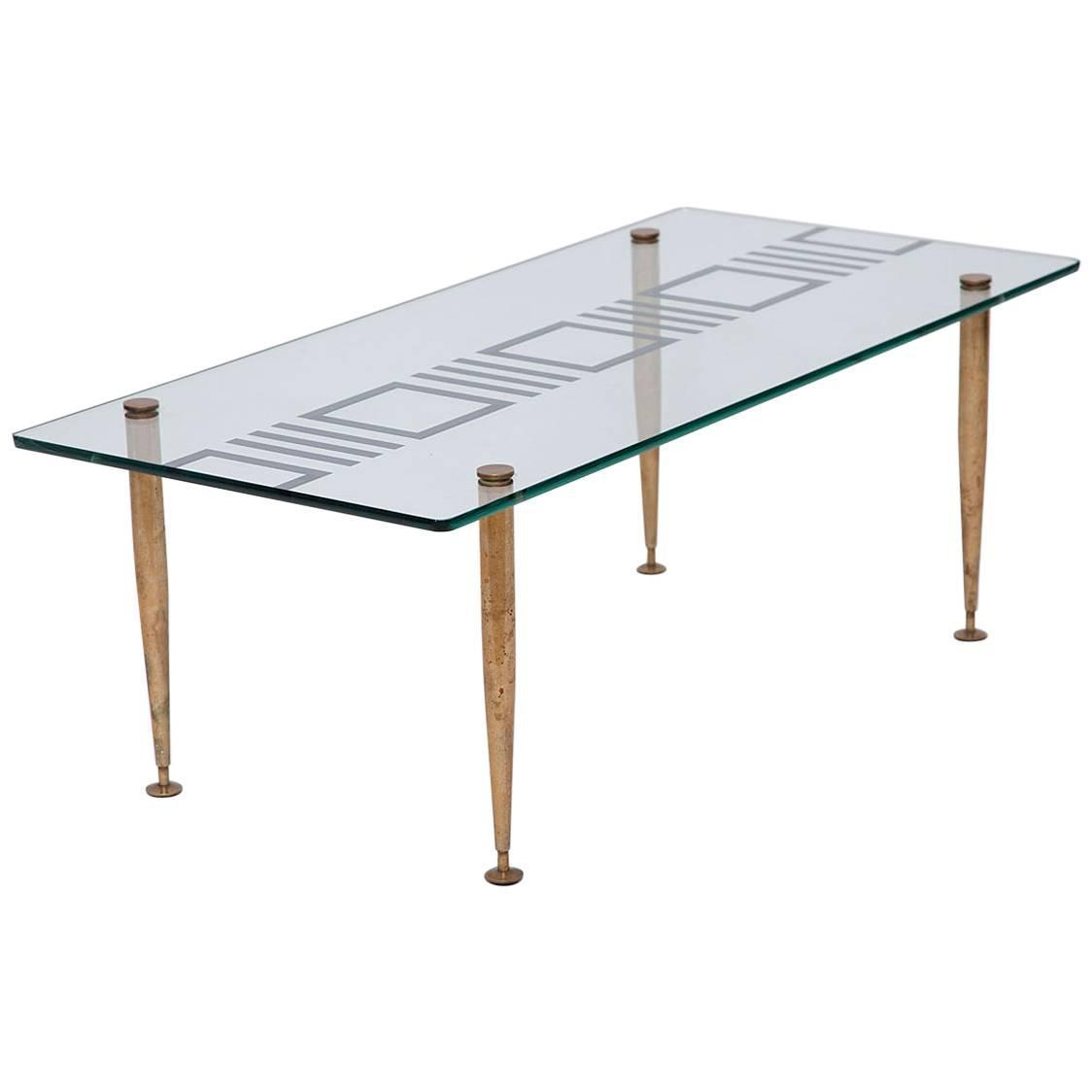 Mid Century Italian Bronze And Mirrored Glass Coffee Table For Sale At 1stdibs
