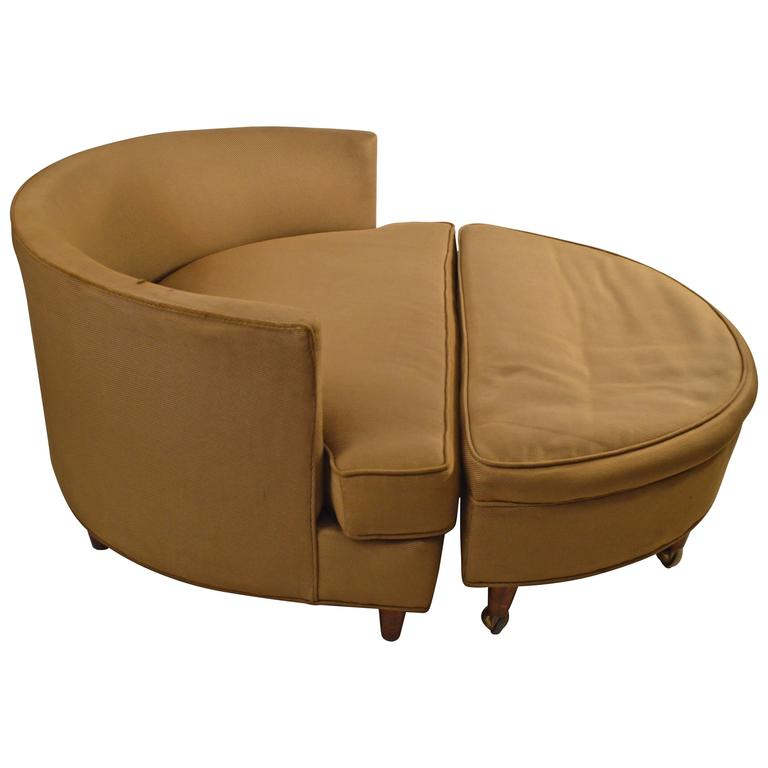 Circular Chair and Ottoman after Pearsall For Sale