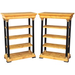 Biedermeier Style Open Bookcases or Shelves from England 'Individually Priced'