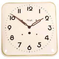 Kienzle Art Deco Ceramic Wall Clock, 1930s