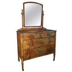 1930s Industrial Steel four-Drawer Chest or Vanity
