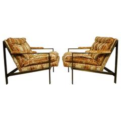 Bronze Frame Lounge Chairs by Cy Mann