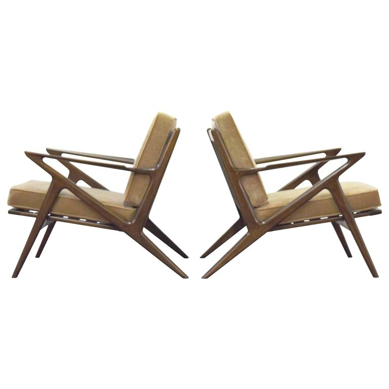Poul jensen for selig z lounge chairs for sale at 1stdibs for Poul jensen z chair