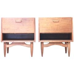 Merton Gershun Martinsville Walnut End Tables