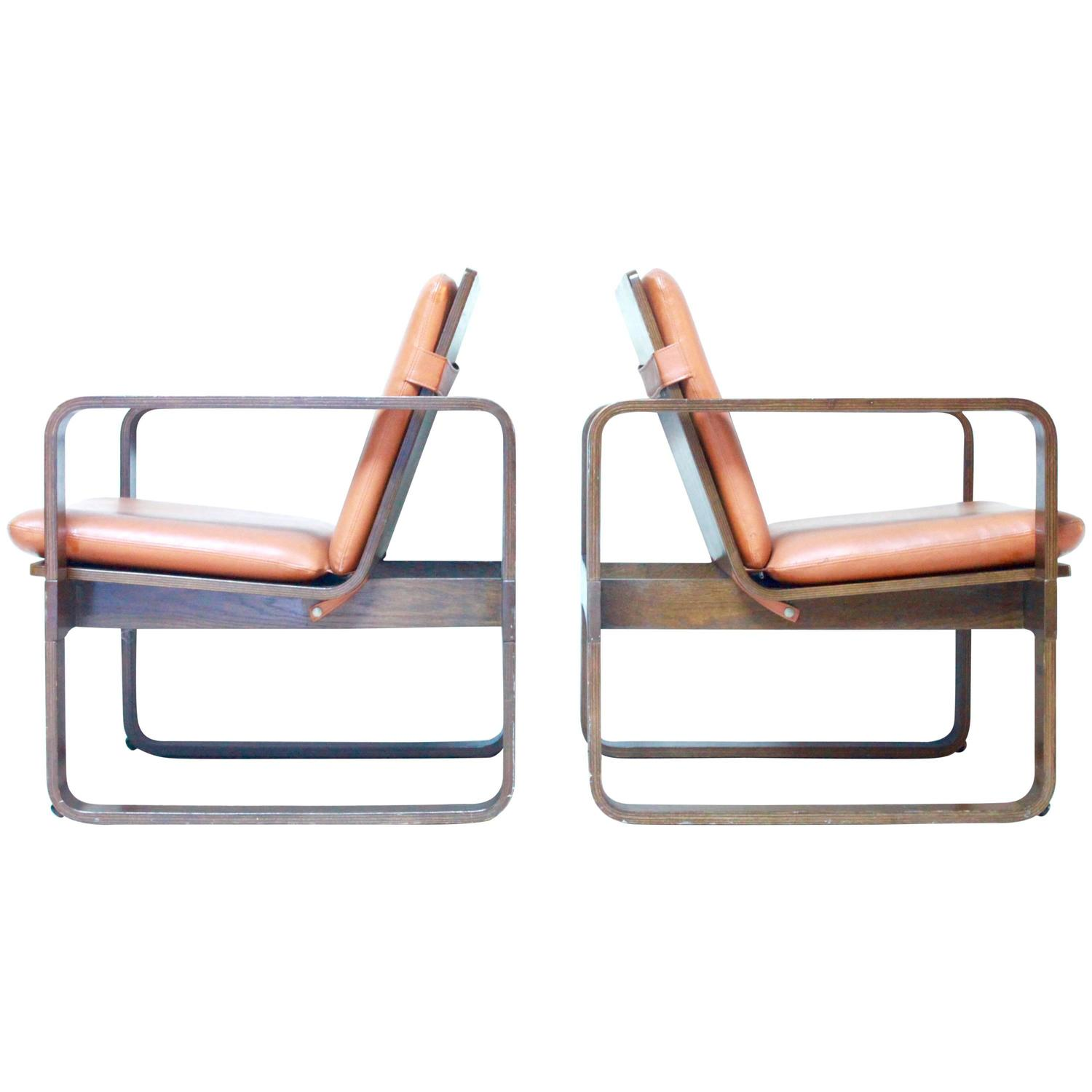 Mid Century Bentwood Lounge Chairs By Thonet For Sale At 1stdibs