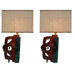 Pair of Lamps by Gianni Pinna