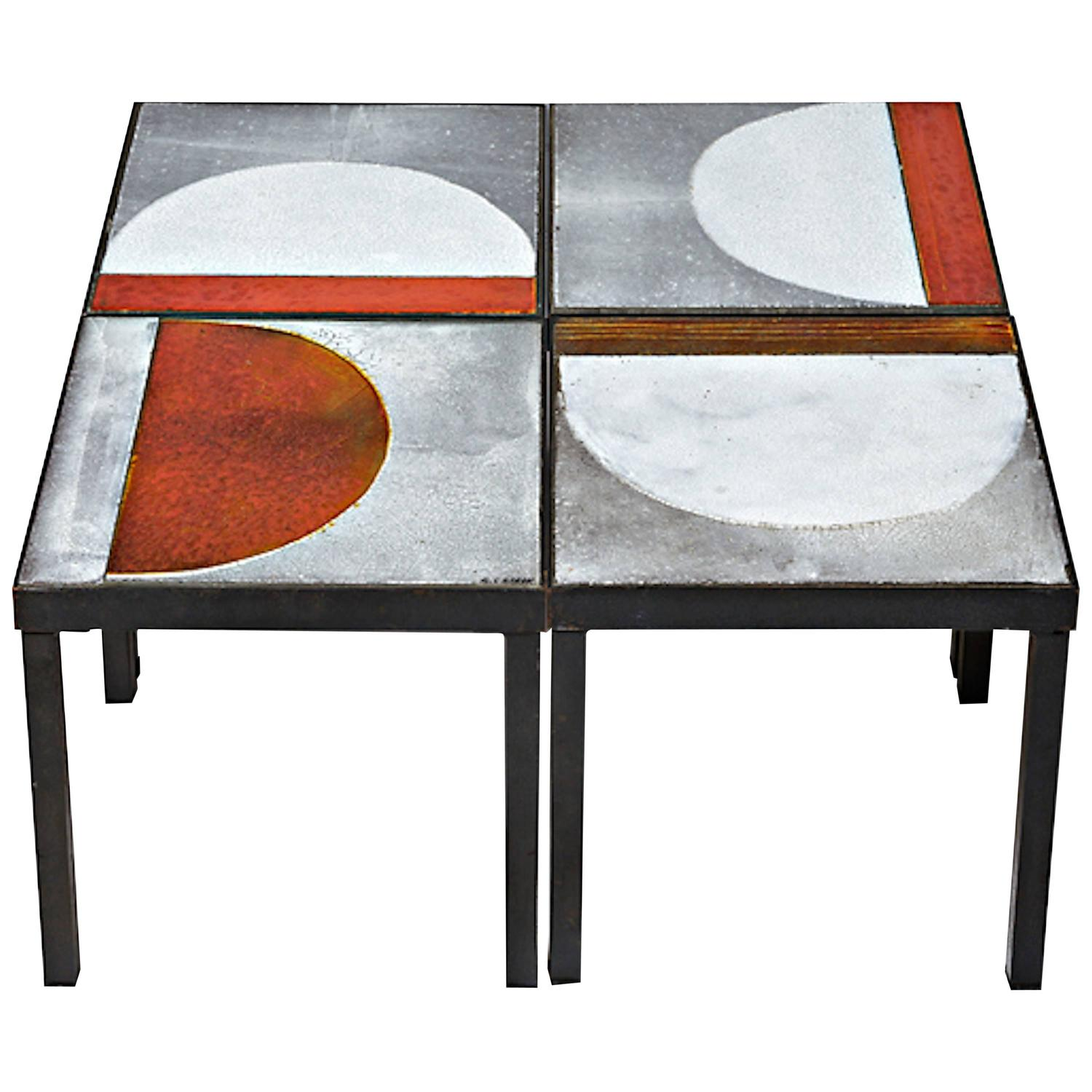 Unique Coffee Table By Roger Capron Vallauris France For Sale At