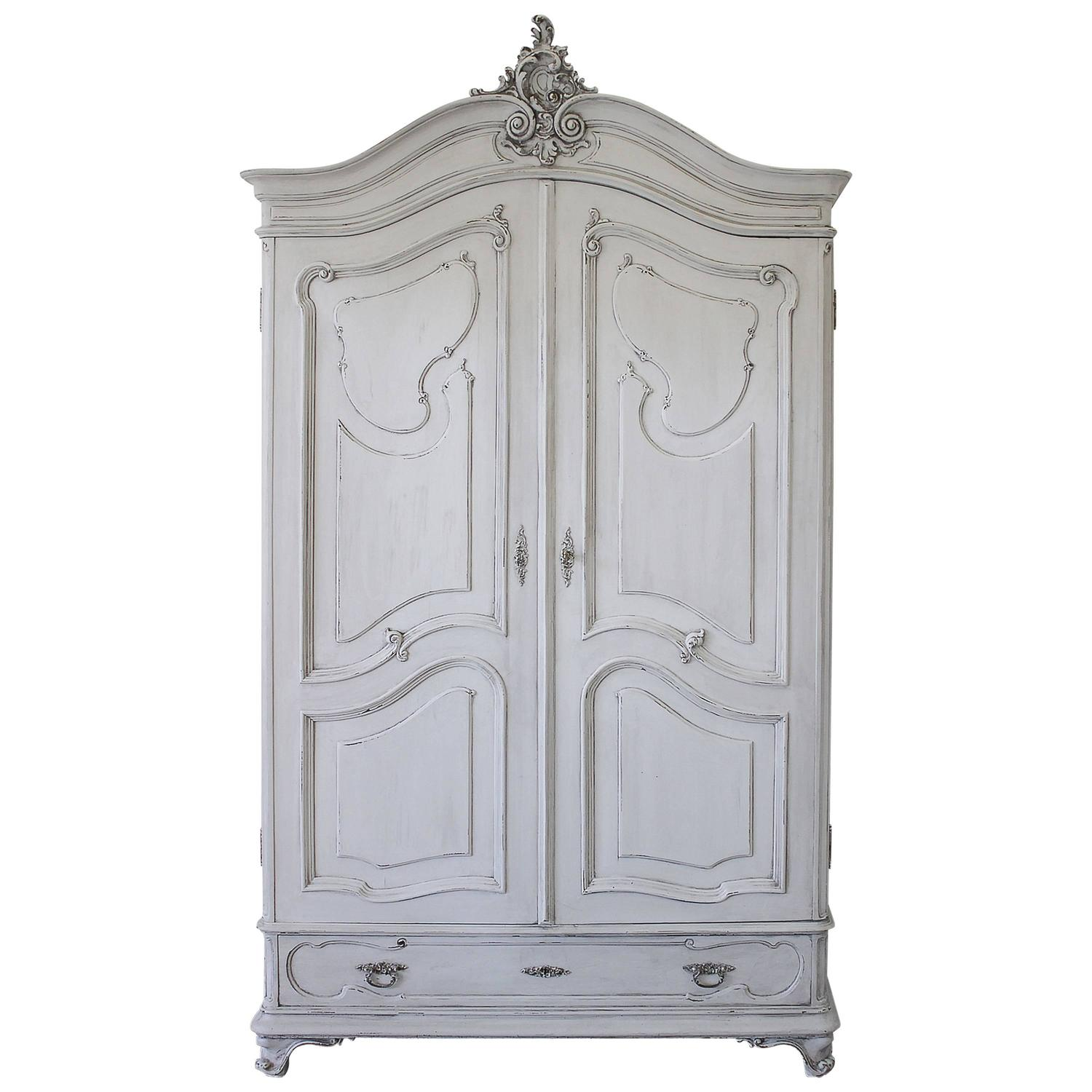 Antique French Style Armoire with Painted Finish For Sale ...