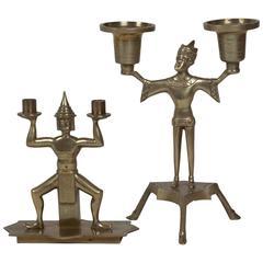 Two Bronze Figural Candelabra, Austrian, 1920s