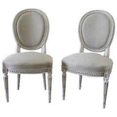 Late 19th Century Carved Louis XVI Side Chairs