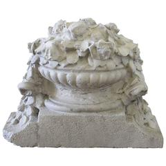 Early Cast Stone Architectural Garden Ornament or Fragment