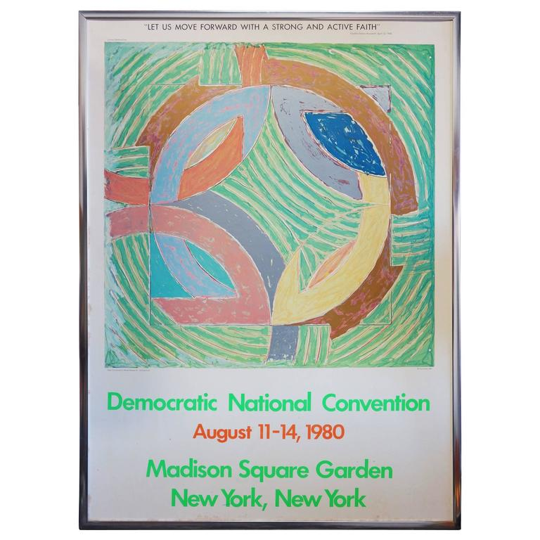 Frank Stella (after), Democratic National Convention poster, 1980