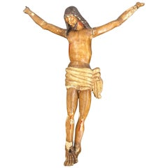 18th Century Carved Wooden Representing Christ on the Cross