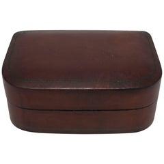Vintage Italian Leather Jewelry Box