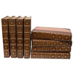 "19th Century Set of Eight Volumns ""Art and Letters"""