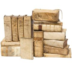 Collection of 17th and 18th Century Vellum Books, 15 Total