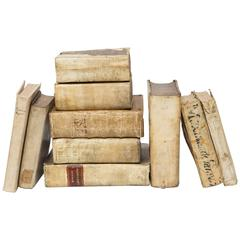 17th-18th Century Collection of Vellum Books 'Ten Books'