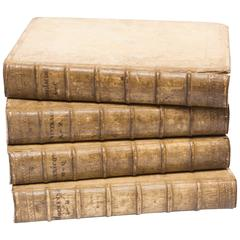17th Century Collection of Four Vellum Books