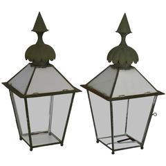19th Century Pair of Victorian Gasolier Lanterns