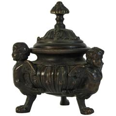 Late 19th Century Bronze Inkwell