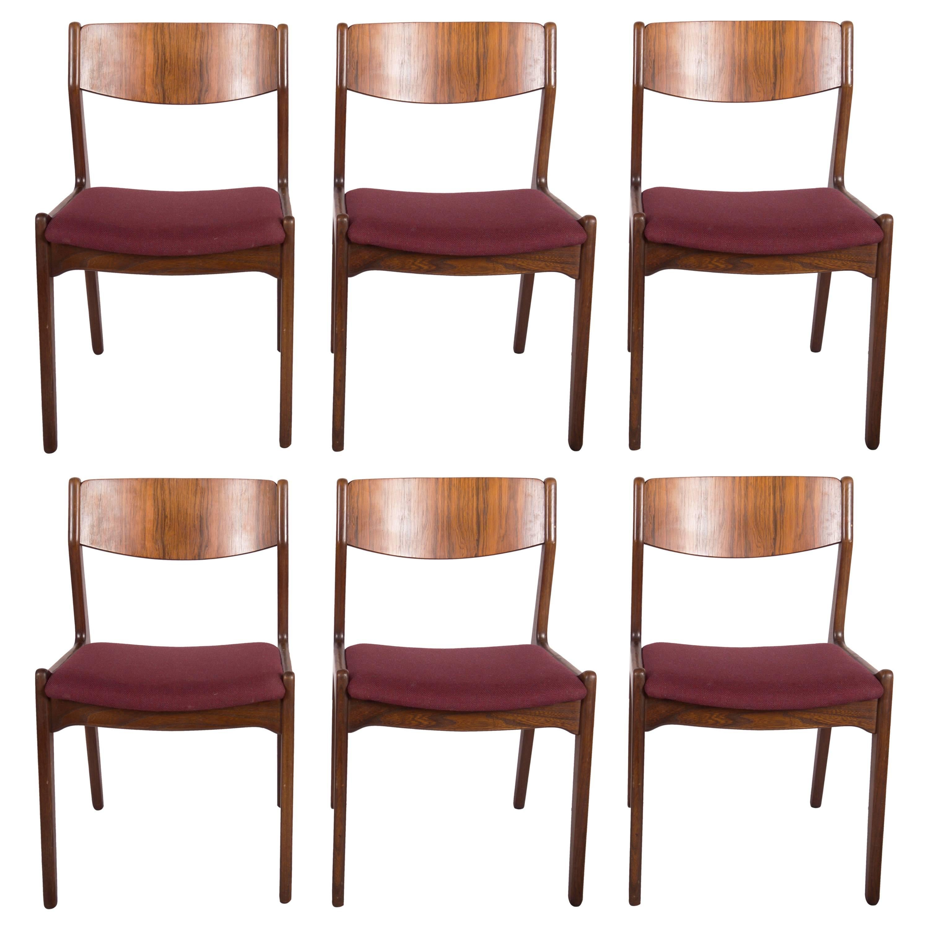 Set of Six Mid-Century Danish Dining Chairs
