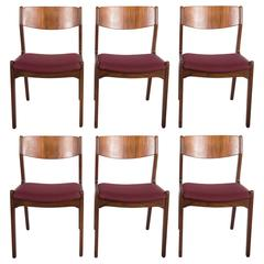 Set of Six Mid-Century Danish Rosewood Dining Chairs
