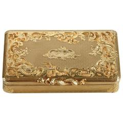 Gold Boxe Rocaille Style, 1819-1838