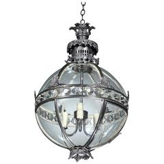 George IV Cast Metal Globe Lantern