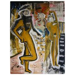 "Joshua Jenkins 2014 ""Hanging with Jesus"" Nice Large Abstract"