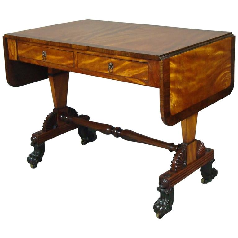 Regency Satin And Rosewood Sofa Table In The Manner Of Thomas Hope For