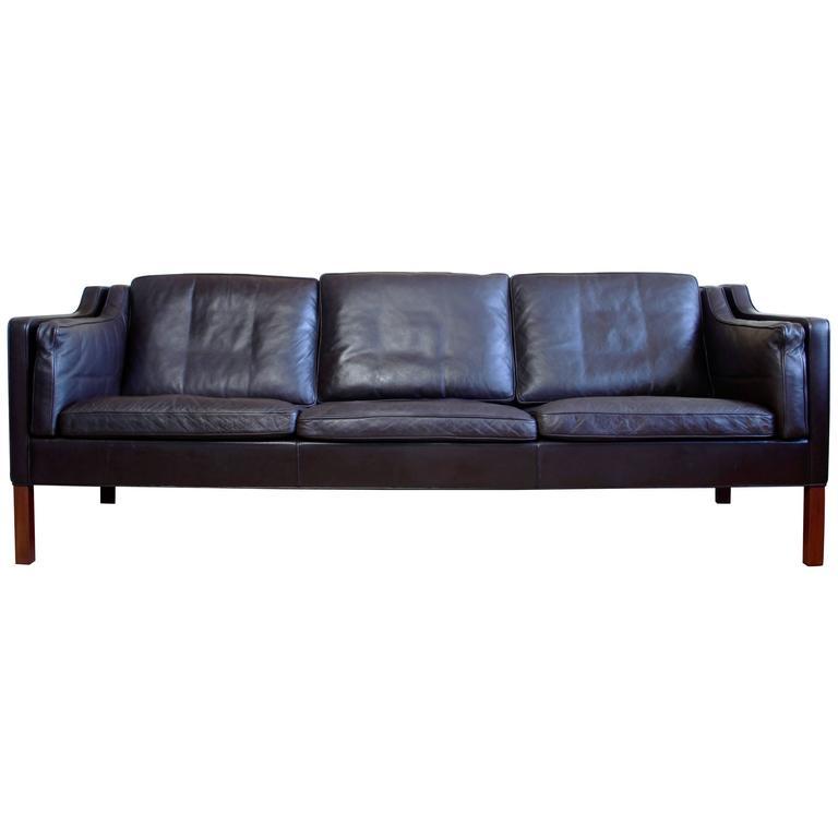 Vintage Borge Mogensen 2213 Three Seat Sofa For