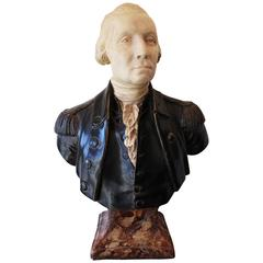 19th Century George Washington Plaster Bust