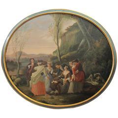18th Century Joseph Emmanuel Curty Oil Painting (Swiss 1750-1813)