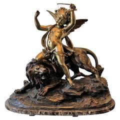 Eugene Laurent French 1832 1898 Gilt Bronze Sculpture
